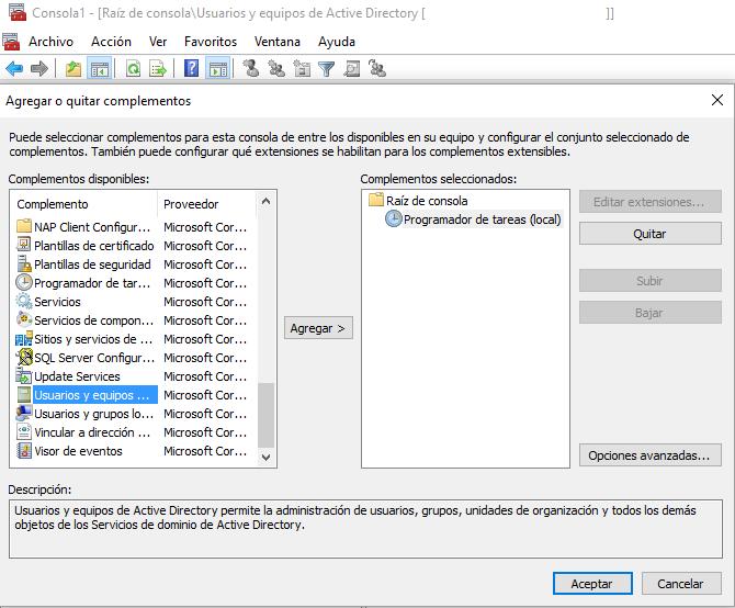 Windows 10: Utilidades de directorio activo – tecnocracia .es